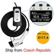 зарядная станция для электромобиля SAE J1772 EV Тип зарядного устройства 1 уровень 2 EVSE 5 м портативная Регулируемая управляемая электрическая Ав...