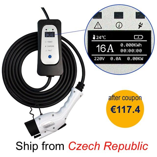 חשמלי מטען לרכב SAE J1772/IEC62196 EVSE EV טעינת כבל 16A האיחוד האירופי תקע לרכב חשמלי