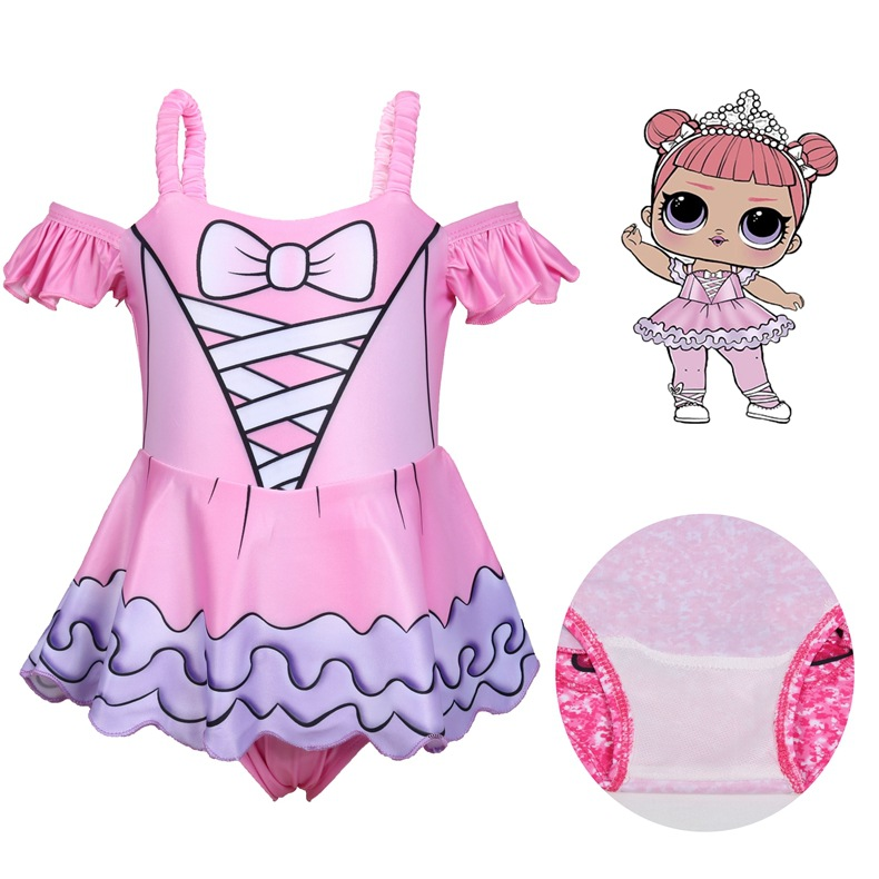 Children Diving Outdoor Bathing Suit 2019 Doll Cosplay Clothes Bathing Suit New Style Toy Off-Shoulder GIRL'S Swimsuit 0395