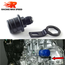 High quality AN10 aluminum Black Rear Block Breather Fittings Adapter For Oil Catch Can B16 B18 B20