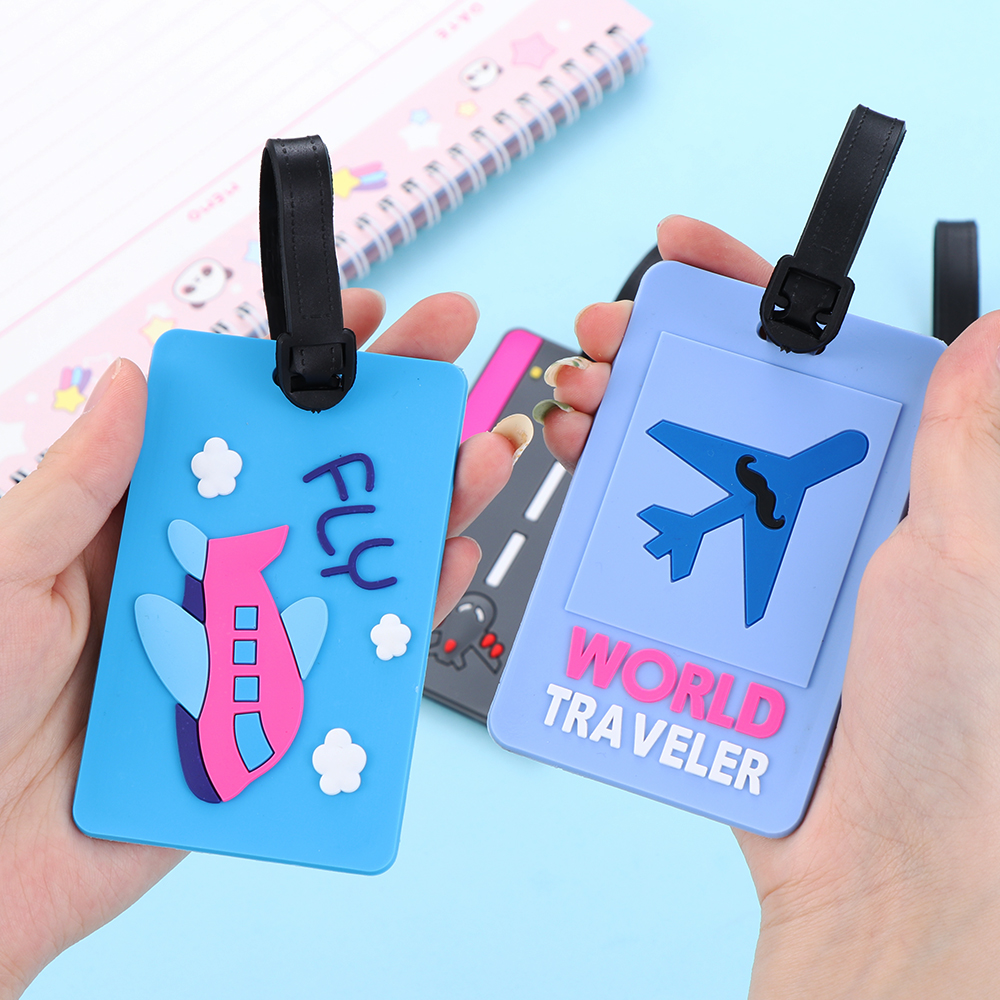 Name Holder Leather Boarding ID Address Tags Baggage  Round Suitcase Luggage Tag Label Bag Pendant Handbag Travel Accessories