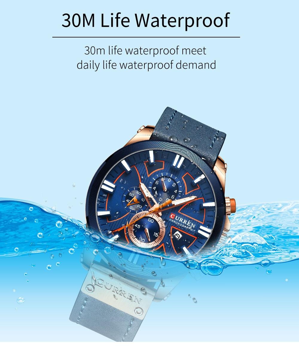 Hc39b97cd5bf24a4793049105a5680bb8W New CURREN Men Watches Fashion Quartz Wrist Watches Men's Military Waterproof Sports Watch Male Date Clock Relogio Masculino