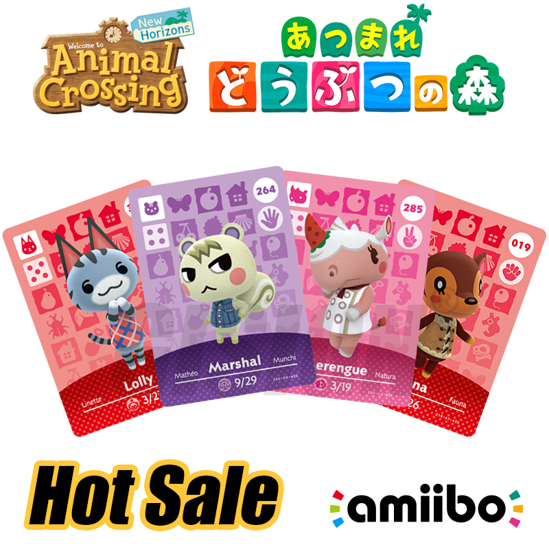 Marshal Ankha Animal Crossing Amiibo New Horizons Game Card For NS Switch 3DS Game Card Set NFC Cards Hot Villager