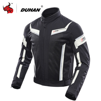 DUHAN Summer Motorcycle Jacket Men Breathable Mesh Jaqueta Motociclista Protective Gear Moto Jacket Motorcycle Riding Clothing duhan summer motorcycle jacket men breathable mesh riding moto jacket motorcycle body armor protector moto cross clothing