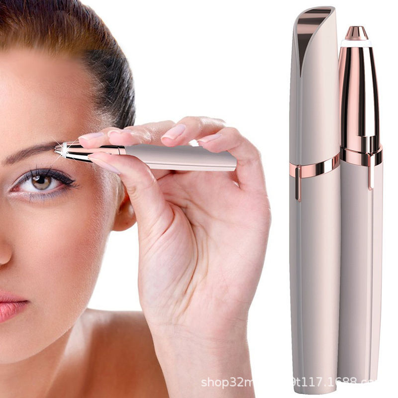 Electric Eyebrow Trimmer Women Mini Eyebrow Shaver Instant Painless Face Brows Hair Remover Epilator Portable Razors