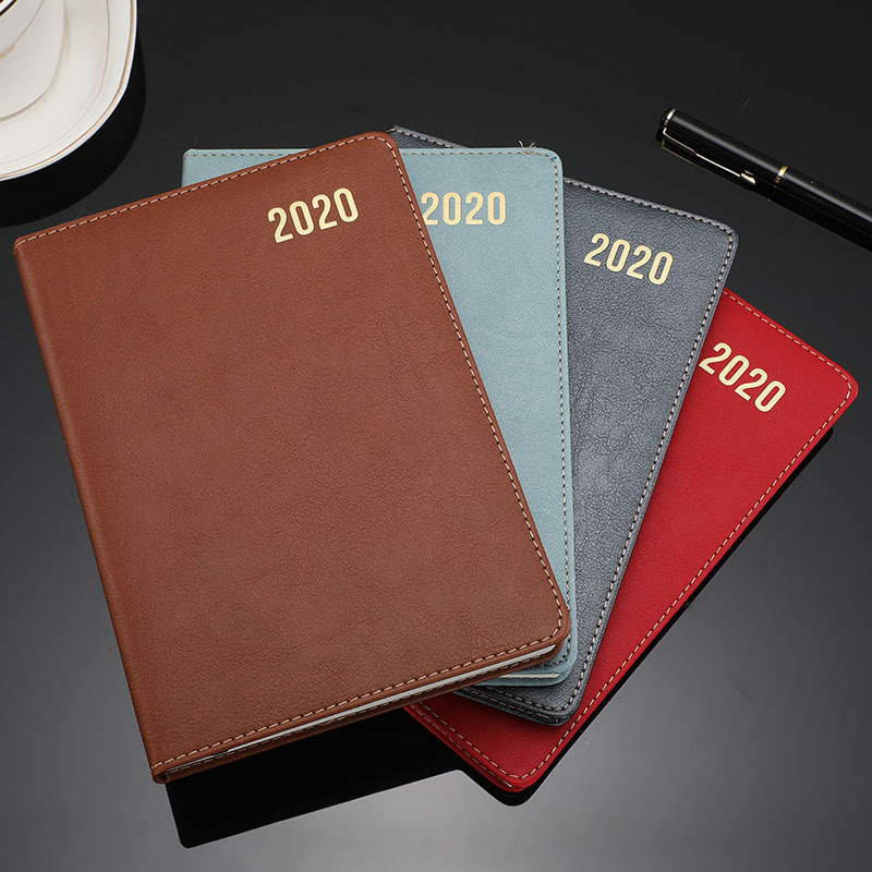 A5 Vintage Leather Notebook Agenda 2020 Weekly Planner Monthly Dividers  Diary Organizer School Note Book Filofax Travelers