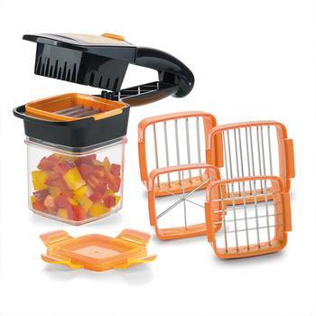 Cuchillo multifuncional para frutas y verduras 2020, cuchillo de cocina de acero inoxidable para cocina, contenedor de frutas ABS