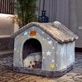 Съемный Кошка Кровать Дом Питомник Гнездо для домашних животных кошка ковер кровать собаки зимний теплый дом собаки подушки товары для дом...