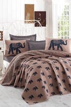 CHQEL Double Personality Natural Pique Printed Elephant Blue
