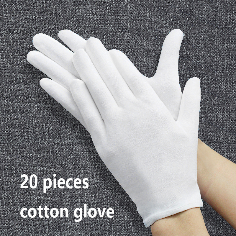 20 PCS Durable Thick Gardening Cleaning Usual Work Housework Hand Protector S L XL White Garden Genie Guantes Cotton Glove