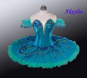 Image 1 - Yeşil gözleme Tutu sahne bale kostümü Esmeralda profesyonel bale giyim Nutracker el yapımı çocuk balerin Tutu