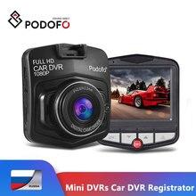 Podofo mais novo mini dvrs carro dvr gt300 câmera filmadora 1080 p completo hd gravador de vídeo estacionamento gravação loop traço cam