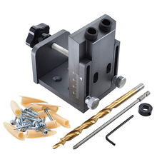 9mm Oblique Hole Locator Angle Drill Guide Set Plate Hole Drilling Locator Woodworking Hole Puncher Jig Kit DIY Woodworking Tool