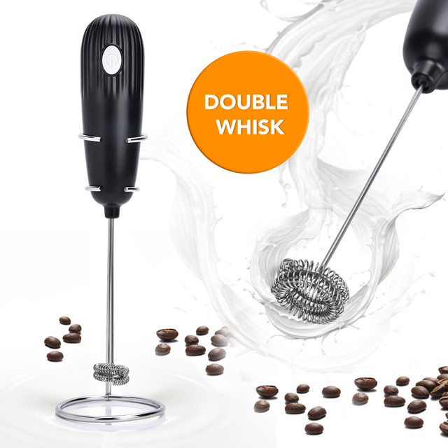 Electric Coffee Blender Milk Jugs Frother Kitchen Whisk Mixer Hand Milk Foamer for Coffee Cappuccino Creamer Frothy Blend Whisk 1