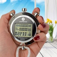 Metal Digital Timer Sports Stopwatch Water Resistant Memory Counter Antimagnetic Chronograph fashionable Waterproof Timer PS 538