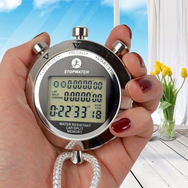 金属デジタルタイマースポーツストップウォッチ防水メモリカウンター耐磁クロノグラフファッショナブルな防水タイマーPS 538