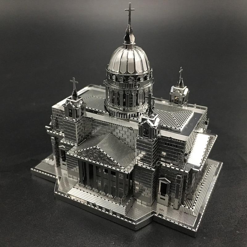MMZ MODEL NANYUAN 3D Metal Model Kit Issakiv Cathedral Building Assembly Model DIY 3D Laser Cut Model Puzzle Toys For Adult