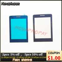 Novaphopat Black Front Glass Screen For Philips Xenium X5500 / X623 / E570 / E560 Outer Glass lens Panel +tracking