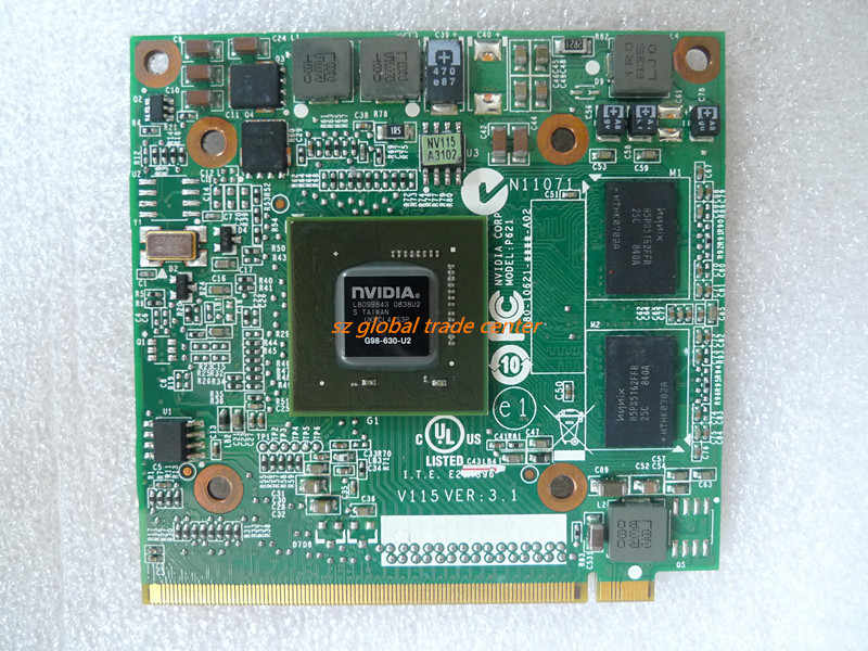 Grafik NVIDIA VGA Card GeForce 9300M GS 9300MGS Mxm II DDR2 256MB G98-630-U2 UNTUK ACER Aspire 5520G 6930G 7720 4630G 7730 Laptop