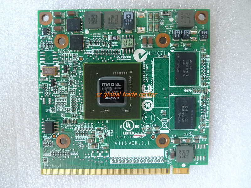 NVidia Graphic VGA Card GeForce 9300M GS 9300MGS MXM II DDR2 256MB G98-630-U2 For Acer Aspire 5520G 6930G 7720G 4630 7730 Laptop