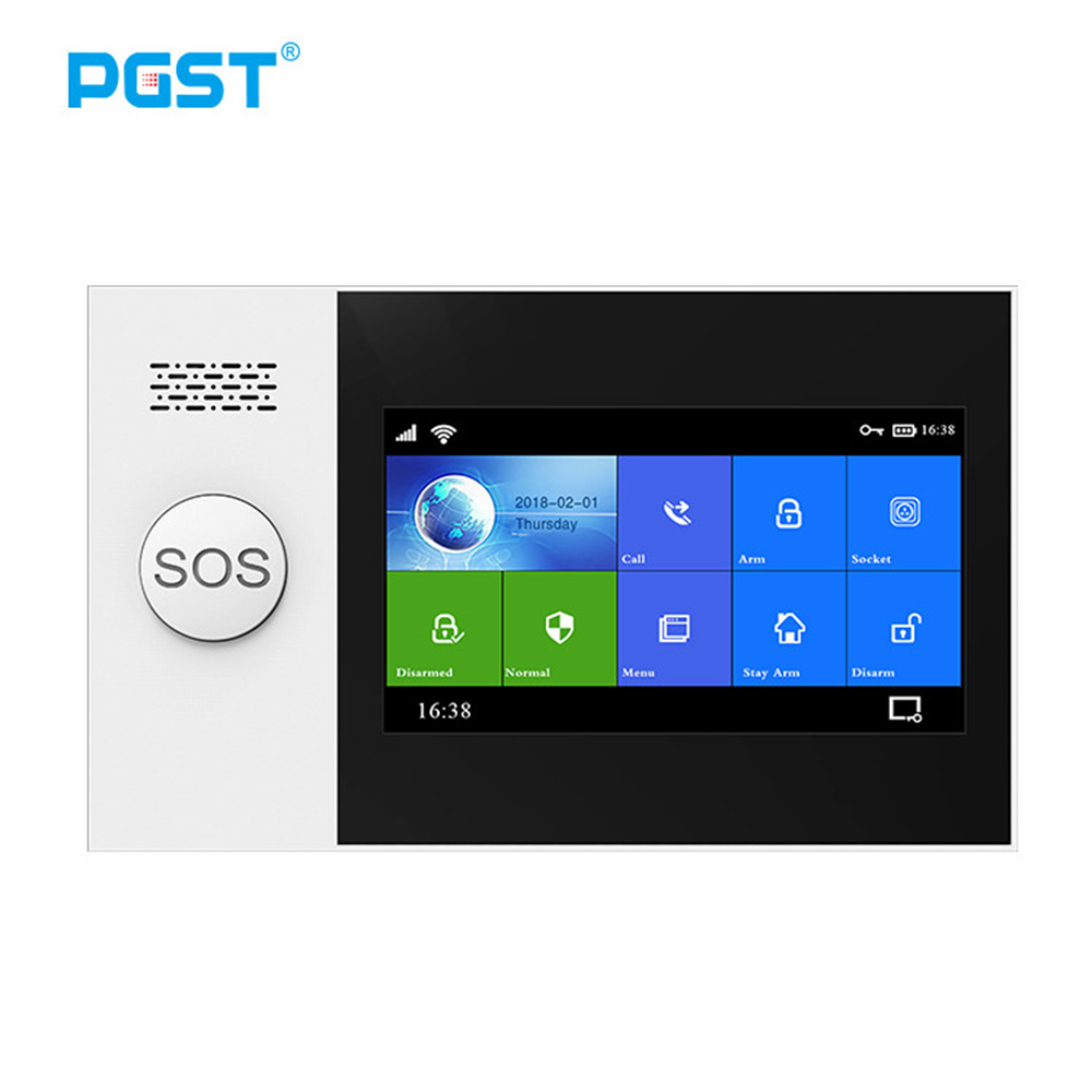 PGST PG-107 Wireless Home WIFI GSM GPRS Burglar Home Security With Motion Detector Sensor Burglar Alarm System APP Control
