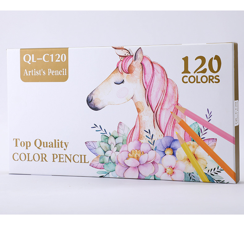 120 pçs set oleosa lápis papelaria definir