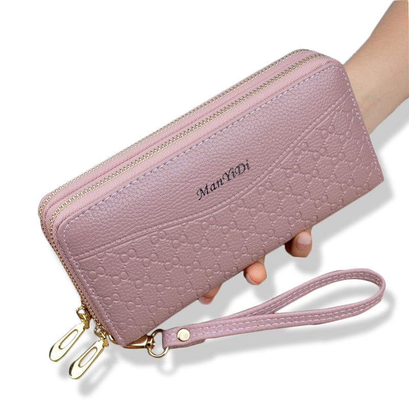 New Double Wallet Women Clutch Bag Handbag Large-Capacity Women Wallet Purse Card Holder Cell Phone Pocket Portfel Cartera Mujer