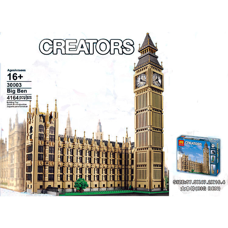 In Stock Building-blocks Bricks 17005 Compatible With Lepins Creator <font><b>Big</b></font> <font><b>Ben</b></font> 10253 <font><b>Toys</b></font> Gifts For Children image
