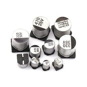 Image 3 - Kit surtido de condensadores electrolíticos de aluminio, 1uF 1000uF, 6,3 V 50V, 400 uds, 24 valores SMD, Incluye caja