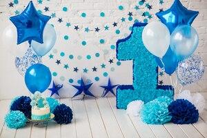 Задник для девочки BEIPOTO на первый день рождения, задник для мальчика, детский торт, Фотофон, шар для украшения вечеринок, реквизит для фотост...