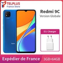 Teléfono Inteligente Xiaomi Redmi 9 C 9C versión Global, 3GB y 64GB de ROM, Helio G35, ocho núcleos, cámara triple ia de 13MP, pantalla HD de 6,53 pulgadas, 5000mAh