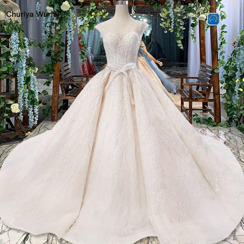 HTL820 robes de mariée turquie o cou casquette manches perles robes de mariée robe avec ceinture à lacets dos robe de mariee 11.11 promotion