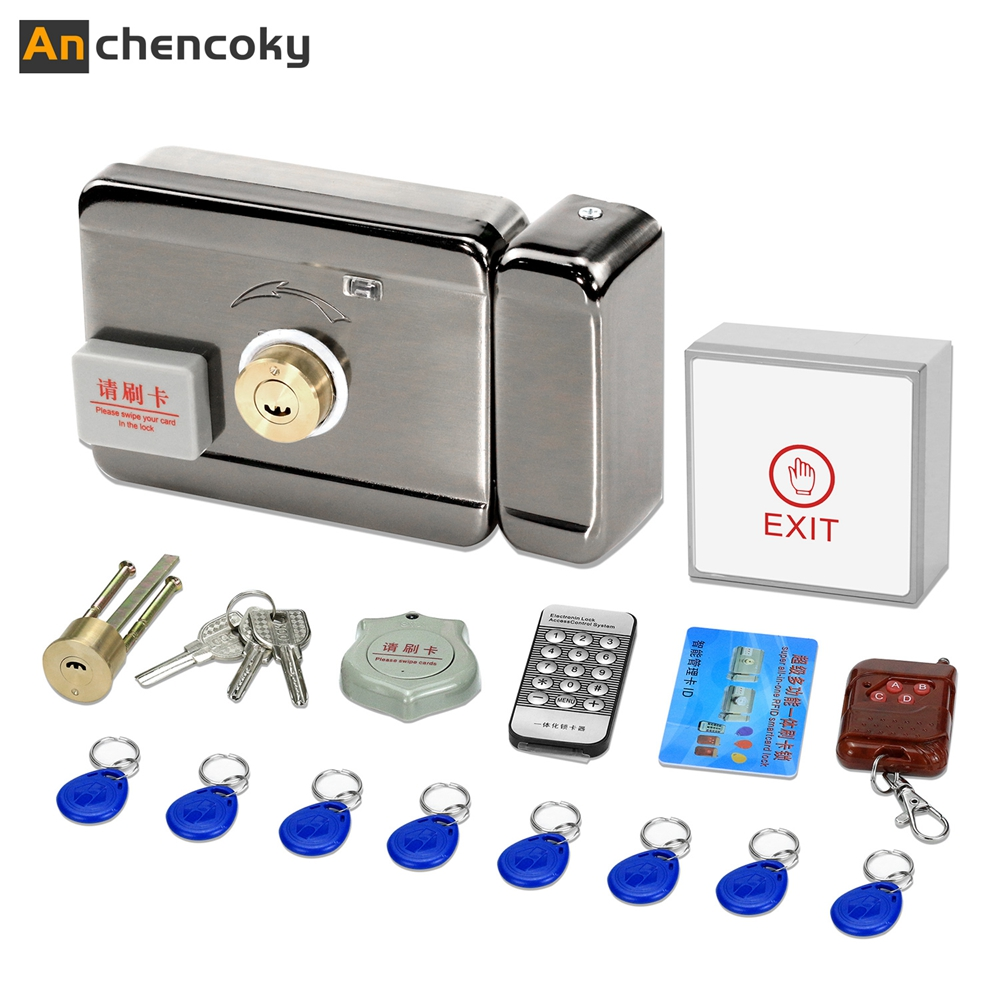 Anchencoky Electronic Door Lock For Video Door Phone With Induction Card Brushing Home Electronically Controlled Unit Door Lock