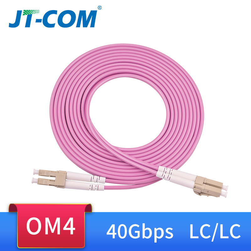 OM4 40Gbps 100G Fiber Optic Patch Cord LC-LC 1m 2m 3m 5m 10m 15m 50/125 2mm 2 Core Multimode Duplex Fibra Optic Patch Cable