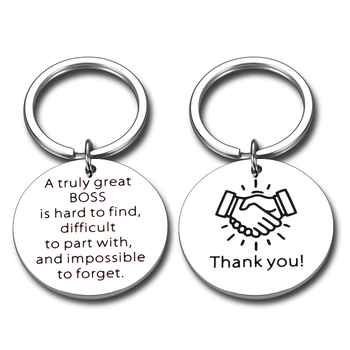 Two Sides Leader Boss Manager Mentor Lady Keychain Gifts Boss Appreciation Gift Keychain for Supervisor Boss Day Christmas image