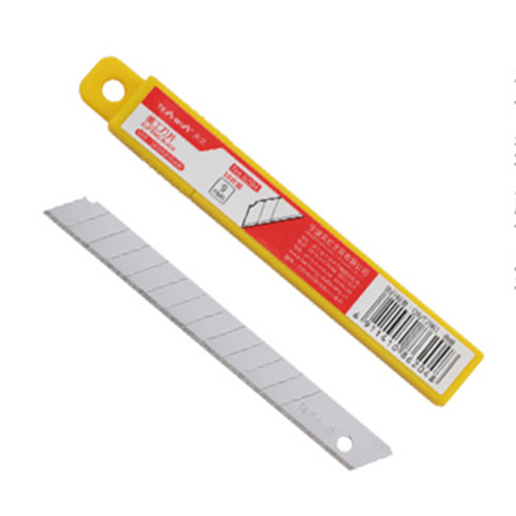 Durable For Use TENWIN 6204 10pcs/set Office School Students Art Blades Trimmer 9MM Paper Art DIY Blades Cutter Knife