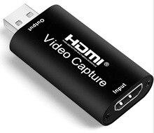 Alfavoce USB 2,0 Карта видеозахвата 1080P HDMI-совместимый HD видео захвата карточная игра в прямом эфире записывающее устройство для ps4/xbox/переключател...
