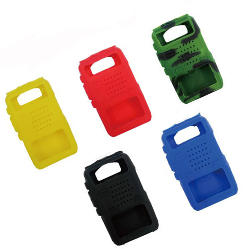 5 Silicone Rubber Protective Sleeves UV-5R Two-Way Radio Box F8 + UV 5R UV-5RE DM-5R Walkie-Talkie