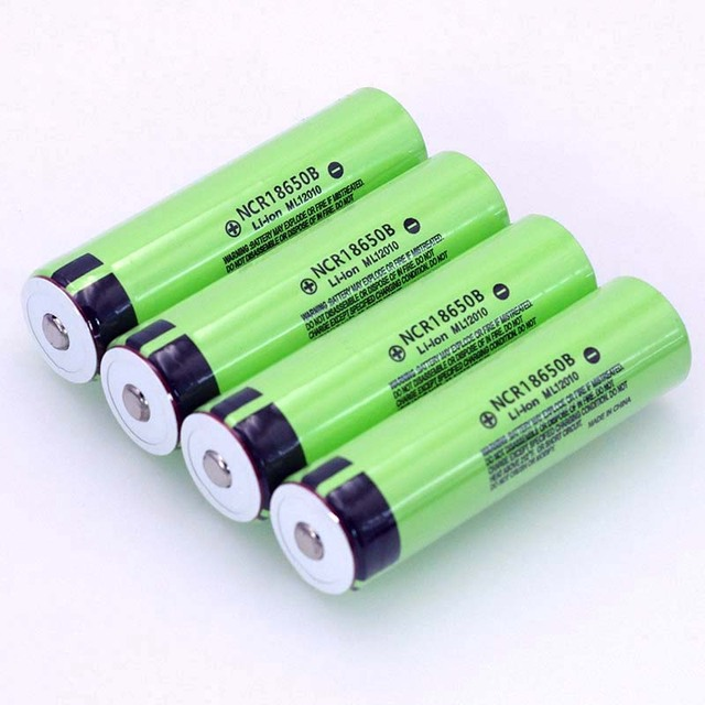 VariCore Original 18650 3.7 v 3400 mah Lithium batterie Rechargeable NCR18650B avec pointu (pas de carte PCB) pour piles de lampe de poche