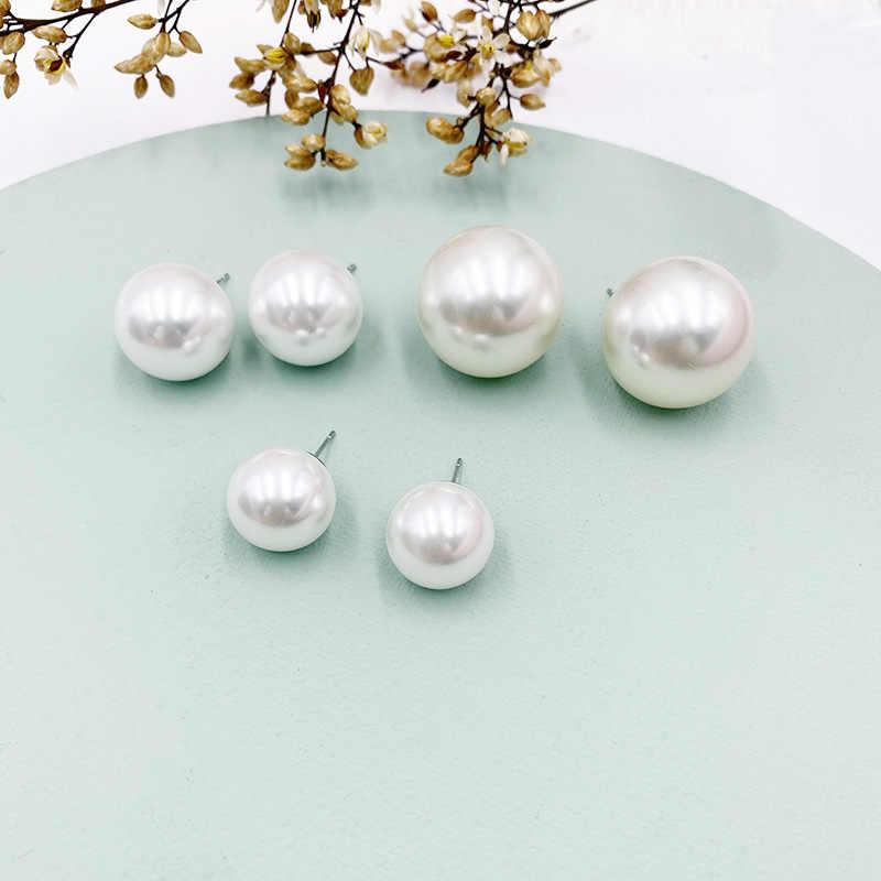 2 centimetri Big Simulato Orecchini di Perle Temperamento Personalità Semplice Bianco Dichiarazione Orecchini Per Le Donne Coreano Dei Monili Degli Orecchini Regalo