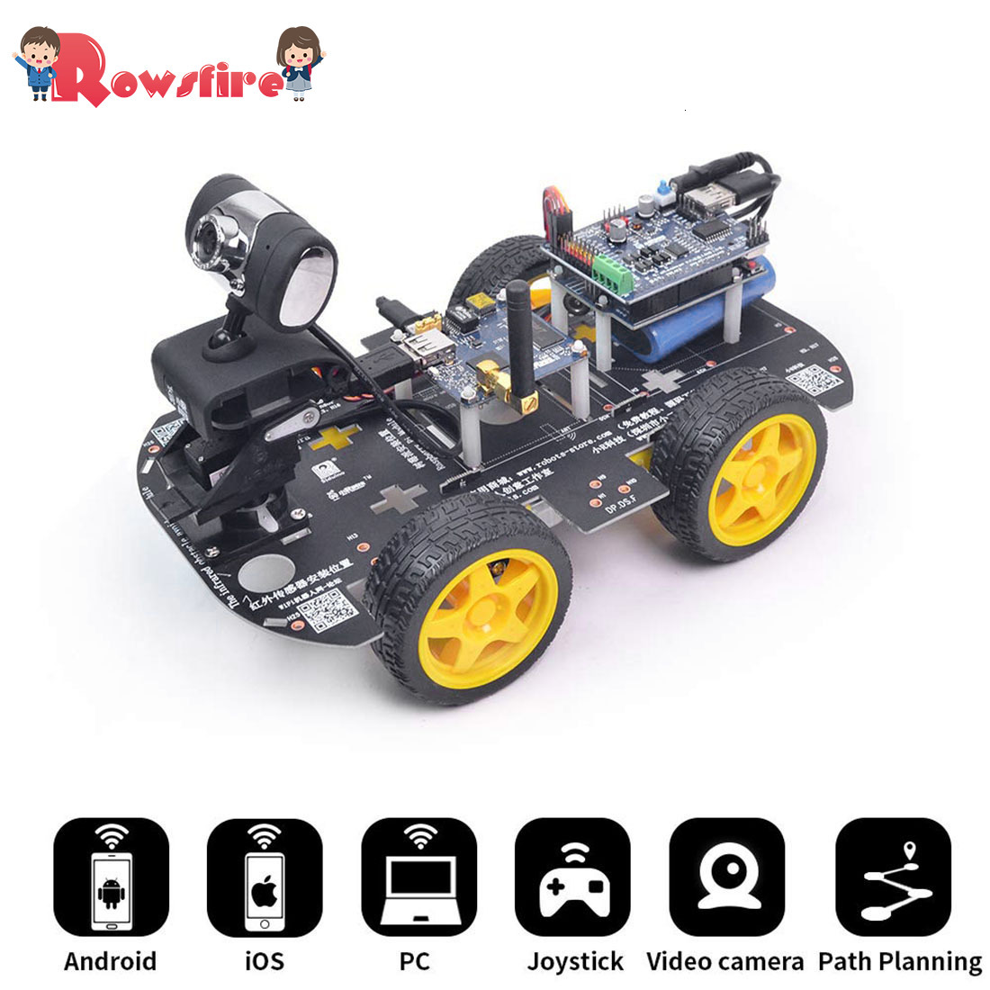 Programmable Robot DIY Wifi Steam Educational Car With Graphic Programming XR BLOCK Linux (Standard Version)