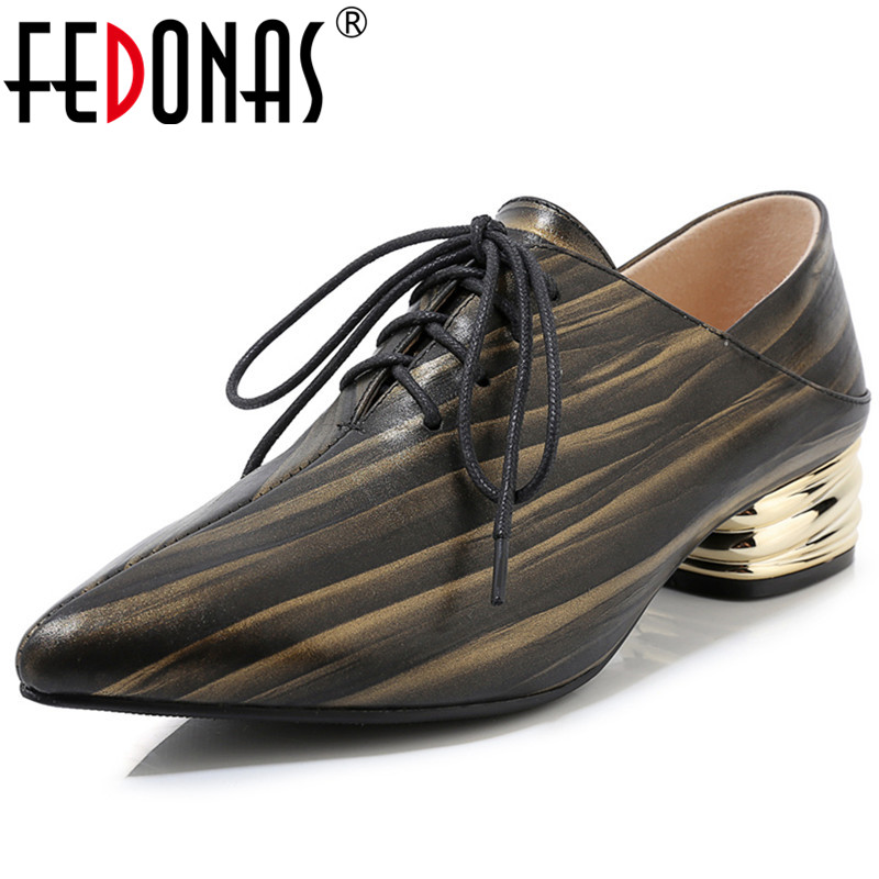 FEDONAS Classic Women Cross Tied Pumps Spring Summer Elegant Female High Heels Party Prom Basic Genuine Leather Shoes Woman