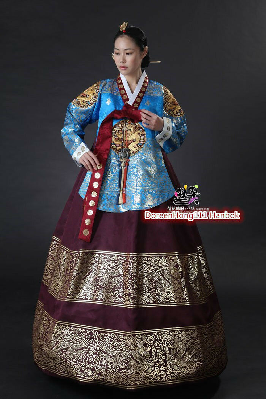 2019 Hanbok Dress Traditional Korean Ceremony Costume DANGUI Korean Royal Costume Hallowen Cosplay Gifts