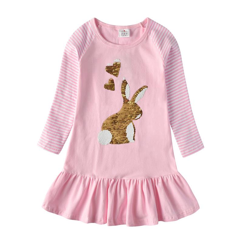 Hc39d5e22062a49809ba2d18aab5c7411g VIKITA Girls Cotton Dress Long Sleeve Children Patchwork Vestidos Kid Dresses for Girls Clothes Toddlers Cartoon Princess Dress