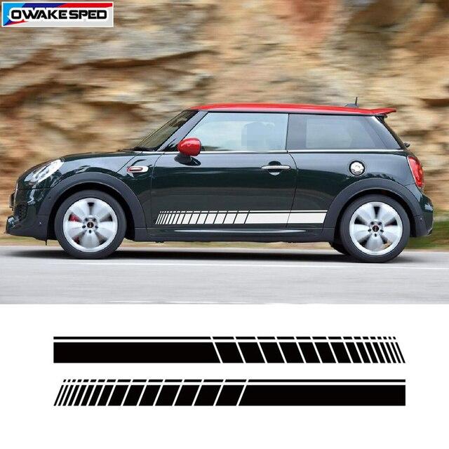 Calcomanía de rayas de carreras deporte para puerta de coche falda lateral pegatina para mini cooper S Clubman F55 F56 F54 F60 R56 R57 R55 3 5 puertas