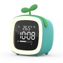 Цифровой будильник с изображением героев мультфильмов ночник