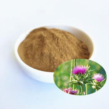High quality milk thistle extract powder, with Silymarin suppl protect the liv~er, improve liv~er function,500g