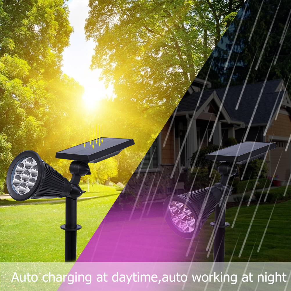 LED Solar Garden Light Spotlight Auto Change 7 Colors Solar Light Outdoor for Yard Patio Lawn Lighting Waterproof 1PCS in Solar Lamps from Lights Lighting