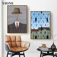 Pintura en lienzo de impresión artística para dormitorio, pintura abstracta Vintage desnuda de Apple, hombre, niña en rojo, póster de paraguas, imagen de pared