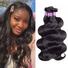 Brazilian Body Wave Hair Weave Bundles Natural Color 100% Human Hair weave 3 Piece 8 28inch Remy Hair Extensions